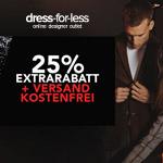 25% Extrarabatt + kostenfreier Versand beim Black Weekend auf dress-for-less.de