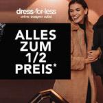 BLACK WEEK bei dress-for-less: Alles zum 1/2 Preis