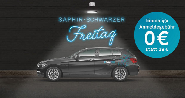 DriveNow Black Friday 2018