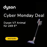 Cyber Monday Deal von Dyson – V7 Animal kabellose Staubsauger für 249 €*