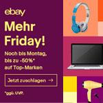 Weniger Black. Mehr Friday. Bis zu 50% Rabatt auf Top Marken bei ebay
