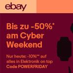 Bis zu 50% Rabatt am Cyber Weekend bei eBay!