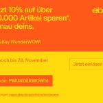Das eBay WunderWOW zum Black Friday – Jetzt bis zu 15% auf 100.000 Artikel sparen*