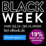 Black Week bei eBook.de – Spare jetzt 19% auf alles und sicher dir deine Hörbücher zum Schnäppchenpreis