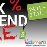 Spielen, Lernen oder Basteln – Edumero feiert das Black Weekend mit Rabatten von bis zu -50%
