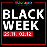 Black Week bei edumero – Zahlreiche Top-Artikel werden bis zu 70% reduziert
