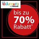 Spare bis zu 70% mit den Black Week Rabatten von Edumero