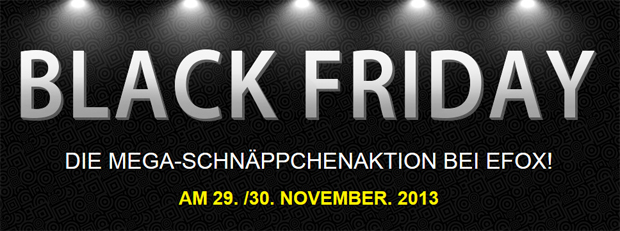 eFox Black Friday Sale 2013