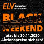 Black Weekend im Onlineshop von ELV- Jetzt Aktionspreise sichern und ordentlich sparen