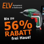 Bis zu 56% Rabatt auf ausgewählte Elektronikartikel im Online-Shop von ELV