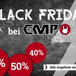 Merchandise zu Knallerpreisen: Bis zu 60% Rabatt auf ausgewählte Artikel im Online-Shop von EMP!