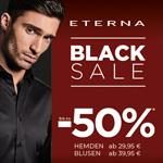 Black Sale bei ETERNA. Bis zu 50% Rabatt auf ausgewählte Hemden und Blusen!