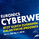 Euronics Cyberweek – Jetzt zugreifen und intergalaktische Prozente sparen