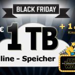 Rabattierte 1.000 GByte Online-Festplatte & GRATIS Kinoticket on top beim Black Friday von EUserv!
