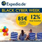 Black Cyber Week bei Expedia – Jetzt buchen und Gutschein sichern!