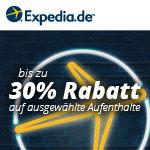Bis zu 30% Rabatt auf ausgewählte Übernachtungen bei Expedia