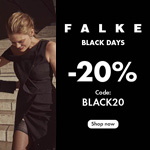 Falke Black Days – Jetzt 20% Rabatt sichern