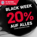 Black Week im FC Bayern Onlinestore – 20% Rabatt auf alles*