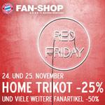 25% Rabatt auf das Home Trikot des FC Bayern. Viele weitere Fanartikel um 50% reduziert!