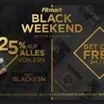 Happy Black Weekend! – Sicher dir jetzt 25% Rabatt auf alle ESN Top-Produkte bei Fitmart