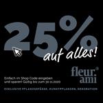 25% Rabatt auf Pflanzkübel, Vasen & Deko-Artikel! Feier mit fleur ami das Black Weekend 2020