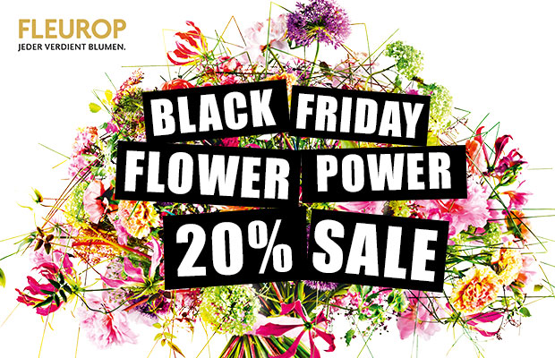 black friday flower power 20 exklusivrabatt f r premium blumen von fleurop black. Black Bedroom Furniture Sets. Home Design Ideas