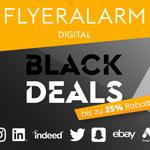 Spare bis zu 25% auf deine Marketingkampagnen über FLYERALARM Digital