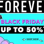 Wahnsinns Black Friday Deals bei Forever21 – Spare jetzt bis zu 50% aus ausgewählte Artikel!