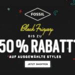 Black Friyay! Bis zu 50% Rabatt* auf ausgewählte Styles bei Fossil!