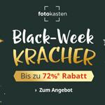 Black-Week Kracher bei Fotokasten: Bis zu 72% Rabatt