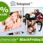 Nur heute: fotopost24 reduziert zum Black Friday alle Produkte um 50%