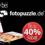 Erhalte jetzt bis zu 40% Rabatt bei deiner Bestellung auf Fotopuzzle.de