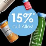 Spare 15% mit dem Black Weekend Angebot von Frank Juice