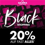 Black Shopping bei Galeria: 20% Rabatt auf fast alles* + Versandkosten geschenkt