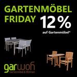 Spare jetzt 12% bei Kauf deiner neuen Gartenmöbel im Store von GarWoh