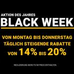 Täglich steigende Rabatte bei der Black Week auf gebrüder-götz.de