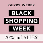 Black Shopping Week bei Gerry Weber mit 20% Rabatt auf alle Artikel
