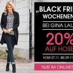 Spare jetzt 20% beim Online Einkauf bei Gina Laura!