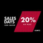 Sales Days bei Görtz – Sicher dir jetzt 20% auf alles