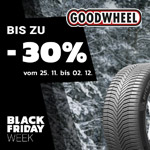 Goodwheel Black Friday Week – Bis zu 30% Rabatt im Black Sale