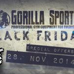 Gorilla Sports Black Friday Deals 2014: Spare bis zu 30% auf ausgewählte Sport- und Fitnessprodukte!