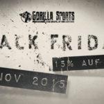 Sportliche 15% Rabatt auf alle Produkte im Online-Shop von Gorilla Sports!