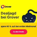 Dealjagd bei Grover – Sicher dir jetzt 90% Rabatt auf den ersten Mietmonat deiner Wunschtechnik