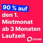 Jetzt Wunschtechnik bei Grover mieten und 90% auf den ersten Monat sparen!