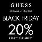 Black Friday bei GUESS. 20% Rabatt auf alles!