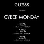 Bis zu 40% Rabatt bei den Cyber Monday Deals bei Guess