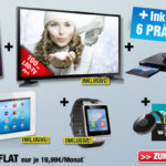 Großes XXL Entertainment-Paket mit 6 Inklusiv-Prämien bei Handyservice.de