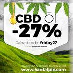 Bio CBD Öl jetzt 27% günstiger bei Hanfalpin