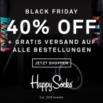 Trendige Socken von HappySocks um 40% reduziert