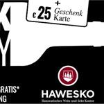 Achtung Weintrinker: Nur heute 25 EURO Geschenkkarte gratis* bei Hawesko